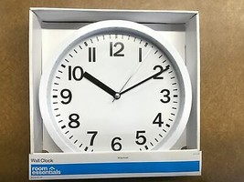 "9"" Round Wall Clock White - Room Essentials™ - $12.50"