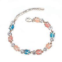 Fashion Jewelry Amethyst Bracelet Heart-shaped Rose Gold Bracelet Hand Jewelry