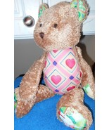 "Jim Shore Plush Bear Hearts 17"" Tall Stuffed Animal Toy - $5.05"
