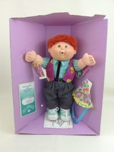 Cabbage Patch Kids 1990 1st Edition Sheldon Red Hair Green Eyes Happy Bi... - $69.25