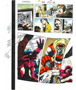 Original 1997 Daredevil vs X-Men Omega Red Marvel Comics color guide art: Colan - $99.50