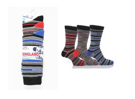 6 Pair Mens Cotton Striped England World Cup Suit Socks T6 *Multipack* - $16.03