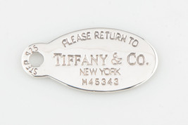 """Tiffany & Co. Sterling Silver """"Return to"""" Large Oval Tag Pendant - $102.47"""