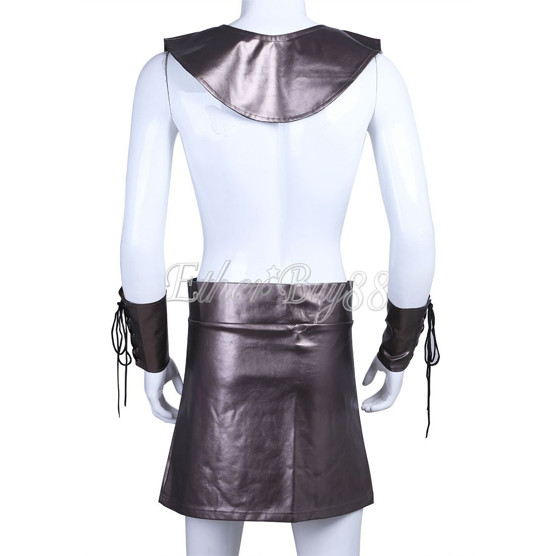 ... Men Faux Leather Roman Gladiator Costume Greek Soldier Warrior Fancy Dress Party ...  sc 1 st  Bonanza : leather gladiator costume  - Germanpascual.Com