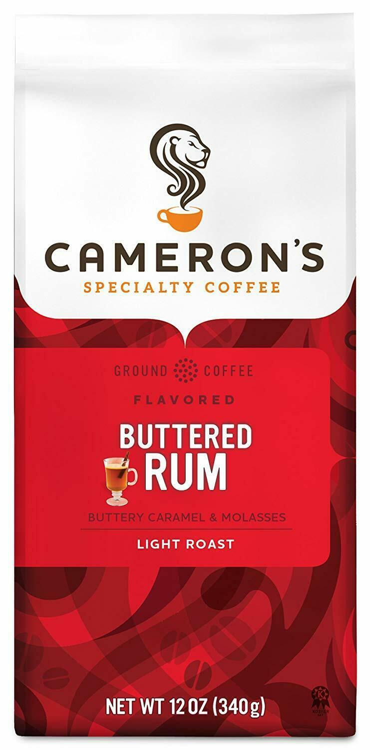 Primary image for CAMERON'S GROUND COFFEE BUTTERED RUM BLEND 12OZ