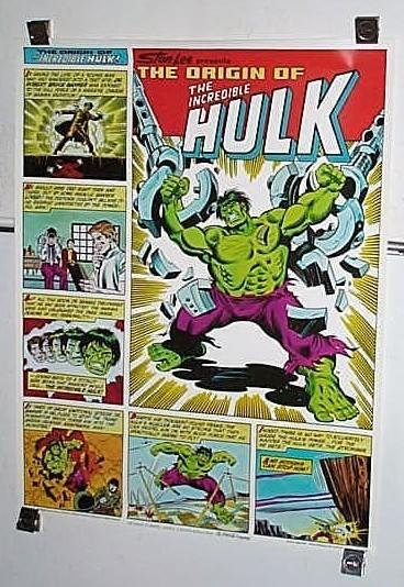 "1980 Marvel Comics Incredible Hulk 28 by 22"" Coke Coca Cola poster 1:Marvelmania"