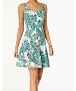 Nine West Dress Floral Tropical Fit Flare Casual Sz 12 NEW NWT - $79.00
