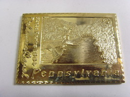 1994 Pennsylvania state parks Delaware canal gold tone metal duck stamp ... - $58.79