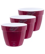 Santino Self Watering Planters Asti 10.6 Inch Red-Pearl/White Flower Pot... - $55.50
