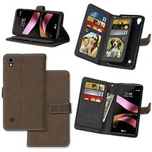 XYX LG X Style Case,LG Tribute HD Wallet Case,[Brown][Vintage Scrub Seri... - $12.86