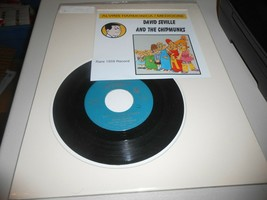 David Seville and The Chipmunks Alvin's Harmonica 45 rpm Record 1959 Lib... - $7.92