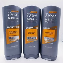 3x Dove Men Care Sport Endurance + Comfort Micro Moisture Body Wash 18oz... - $25.64