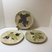 "3 Salad Plates Cabernet Tabletops Unlimited Grapes 8.5"" - $21.28"