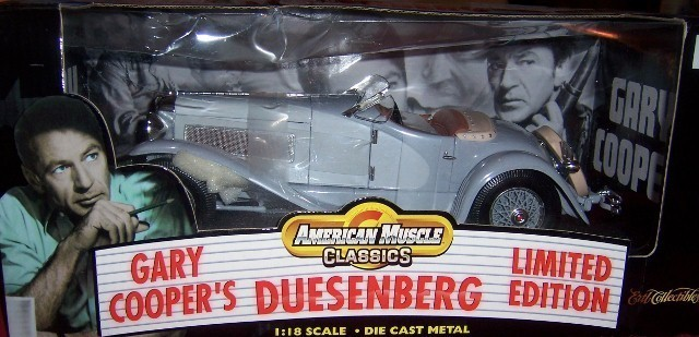 Gary Cooper Duesenberg Limited Edition Ertl Collectible Car American Muscle NEW