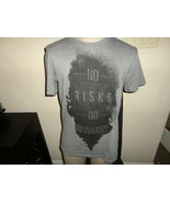 Gray Apt 9 No Risks No Rewards Cotton Blend 50-50 tshirt Adult M New wo ... - $17.81