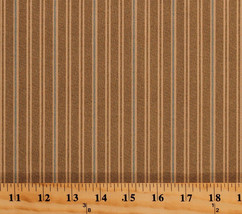 Something Blue Edyta Sitar Tan Stripes Cotton Fabric Print by the Yard D... - $12.49