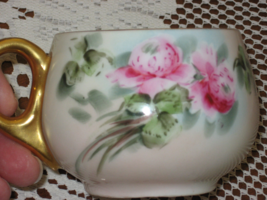 Bavarian -Hand Painted-Peonies-Gold accents-Iridescent Glaze-Porcelain-C... - $7.00