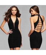 Black Halter Short Homecoming Dress Sexy Backless Girls Cocktail Party G... - $23.55