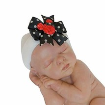 The Posh Contessa Infant Hat with Bows Black - $19.40