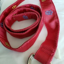 Tommy Hilfiger Pink Embroidered Canvas D-Ring Belt NEW - $15.15