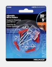 New Hillman AnchorWire Adjustable Plastic Medium Mirror Holder Kit 6 pk 122280 - $6.59