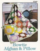 Bowtie Afghan & Pillow, Annie's Attic Crochet Pattern Leaflet 87A69 - $2.95