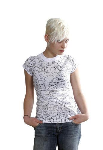 Famous Stars & Straps Womens Black or White Delirious Juniors T-Shirt 101672 NWT