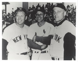 MICKEY MANTLE STAN MUSIAL R MARIS 8X10 PHOTO NEW YORK YANKEES BASEBALL P... - $3.95