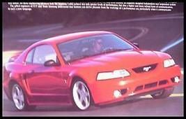 2000 2001 Ford Mustang Cobra SVT ORIGINAL Dealer Brochure - $8.32
