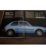 1976 Honda Civic Original Full Two Page Color Print Ad - Collectible - V... - $3.99