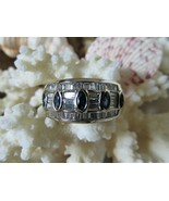 Lovely 18 K White Gold Sapphire+Baguette Diamond Ring~W/Appraisal~Perfec... - $1,899.99