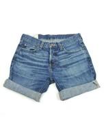 Hollister Denim Jean Shorts 31 Dark Wash Cutoffs Cuffed Skinny - $9.74