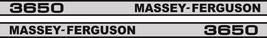 MASSEY FERGUSON 3650 Tractor decal set, replica - $36.00