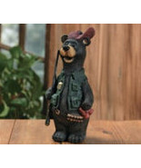 Hunter Resin Bear With Gun & Ready To Go - $17.95