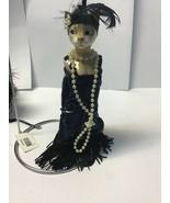 "Katherine's Collection flapper cat ornament Candy Bag 7""  Wayne Kleski T... - $44.99"