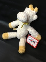 RARE HTF Baby Yellow Giraffe Lovey Rattle Plush Toy Ribbon Douglas Cuddl... - $59.00