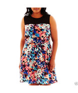 Sleeveless Floral Print Dress Plus Size 18W By B. Smart Msrp $60.00 - $19.99