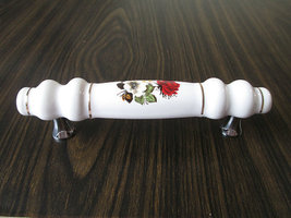 "3.75"" Red Flower Dresser Pull Drawer Pulls Cabinet Handles Kitchen Hardware - $7.00"