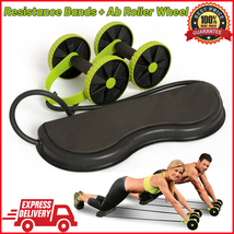 AB Wheels Roller Stretch Elastic Resistance Pull Rope Tool For Abdominal... - $24.99