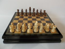 Catherine Chess Inlaid Wood Board Game w/ Wooden Pieces - Pre-Owned - $69.99+