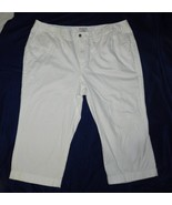 Covington Womens Plus Size 22W Stretch White Capris Pants  - $12.99