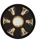 Versace by Rosenthal I Love Baroque Set 6 espresso cups & saucers - $1,016.35