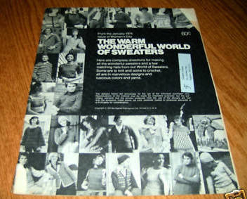The Warm Wonderful World of Sweaters Womans Day 1974