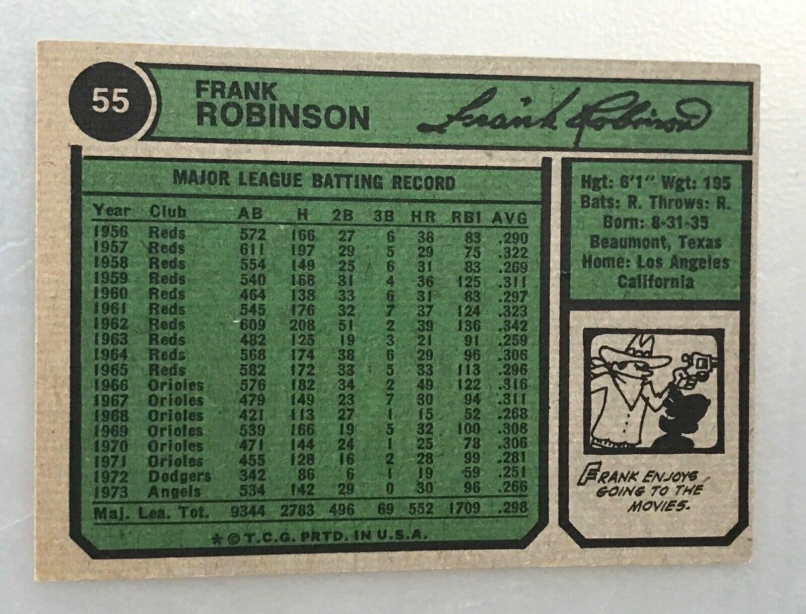 1974 Topps  #55 Frank Robinson Angels