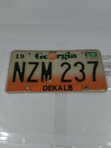 Georgia Dekalb License Plate NZM237 Atlanta Car Tag Peach - $19.79