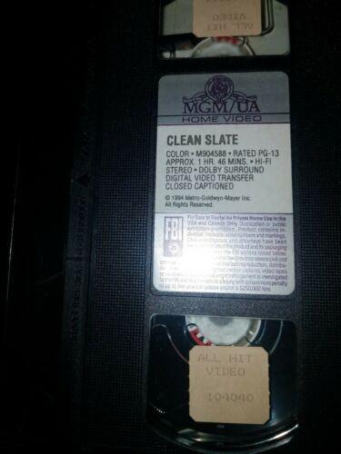 Clean Slate (VHS, 1996) Dana Carvey, Valeria Golino