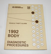 1992 Dodge Chrysler Vehicle Theft Alarm Diagnostic Procedures Manual USED - $8.86