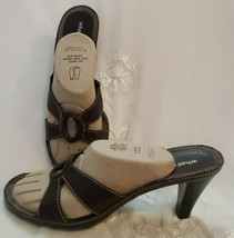 Aerosoles Leather Sandals Size 8.5 Brown Open Toe Comfort Sole Womens Shoes - $12.85
