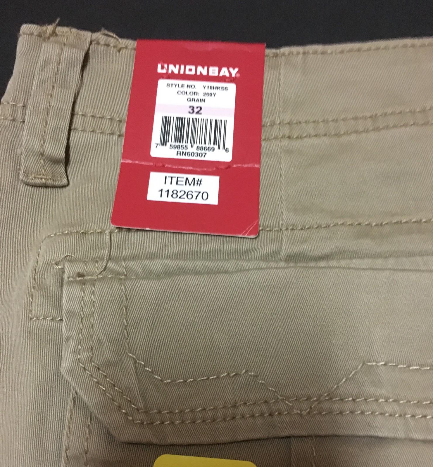 Union Bay Dark Khaki Shorts SZ 32