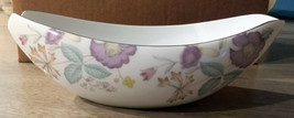 """Sango Fine China Japan """"Fantasia"""" Pattern Oval small bowl with silver tr... - $14.20"""